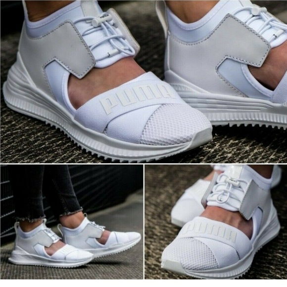 separation shoes 5ef8c ded56 PUMA Fenty Avid Women Casual Sneakers White Sz 7.5 NWT